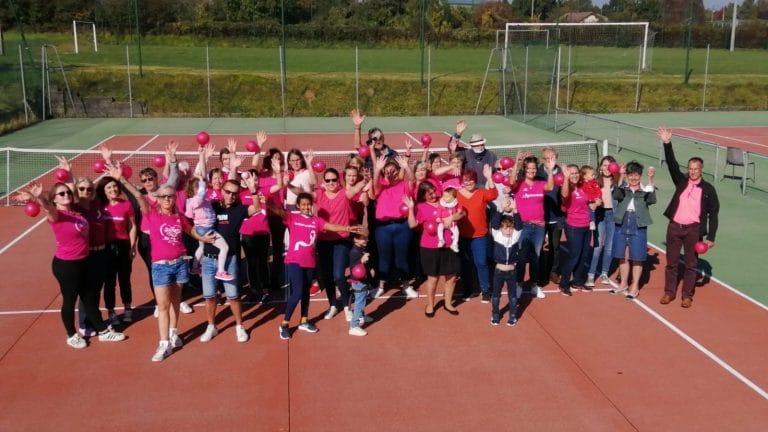 Succès pour les «Balles Roses» avec le Tennis-Club Le Merlerault